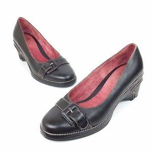 Aerosoles Craft Maker Black Wedge Heels